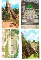 4 Cards - Guatemala - Tikal - Maya - Temple Of The Giant Jaguar - Dios Del Maiz - Palacio De Malor - Guatemala