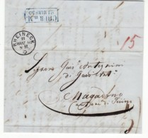 4727 HELVETIA RHEINECKTO MAGADINO WITH TEXT - 1854-1862 Helvetia (Sin Dentar)