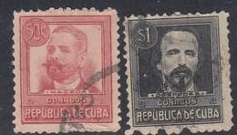 Cuba, Scott #272-273, Used, Maceo, De Cespedes, Issued 1917 - Cuba