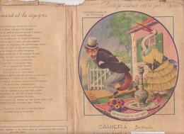 """Protège Cahier """"fables De La Fontaine"""" """"le Renard Et La Cigogne - Protège-cahiers"""