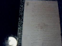 Vieux Papier  Notarié De 1827 Cachet   & Fiscal De75 Ct  Fait  Au Greffe De Justice & De Paix De  Mirambeau 2 Pages A Et - Cachets Généralité