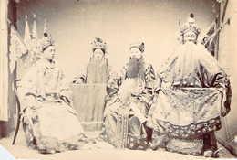 Photo Originale 9x14 Acteurs Opera Chine à Longue Barbe RANKOU China Actors Opera Rankou - Antiche (ante 1900)
