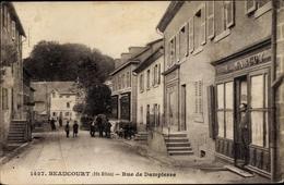 Cp Beaucourt Territoire De Belfort, Rue De Dampierre, Geschäft E. Margot - Sonstige Gemeinden