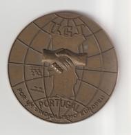 18-Medaglia Bronzo Portogallo 1988-U.G.T. Per Un Sindacalismo Europeo-cm.6 - Gettoni E Medaglie