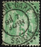 -Sage N°106 Type Ll.(CAD) O MODANE-GARE ( 88 ). - 1876-1898 Sage (Type II)