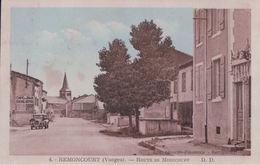 """REMONCOURT Route De Mirecourt (Affiche """"Bière De Vittel"""") - Frankreich"""