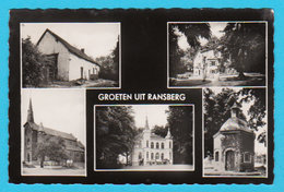 CPSM RANSBERG : Groeten Uit RANSBERG - 4 Vues - Uitg. D. Point, Handelaar, Dorpstraat 87 - 2 Scans - Kortenaken