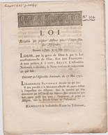 Rare Loi 1791 Numismatique Concernant Le Papier Pour L'impression Des Assignats Avec Cachet Rouge Royal N° 934 - Documents Historiques