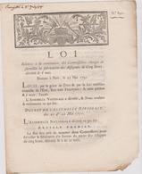 Rare Loi 1791 Numismatique Concernant Nomination Commissaires Fabrication Des Assignats Avec Cachet Rouge Royal N° 891 - Documents Historiques