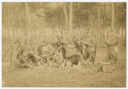 E229 Photographie Ancienne Vintage Guerre Militaire 9ème Fusil Baïonnette Vers 1870/80 Grande Albumine Albumen - Guerre, Militaire