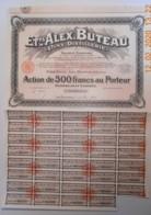 ACTION - Ets ALEX BUTEAU - Vins - Distillerie - Les Bourdelins Dans Le Cher 18- Du 22 Juin 1933 - Agriculture