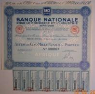 ACTION - B.N.C.I. AFRIQUE - Banque Nationale Pour Le Commerce Et L'Industrie - ALGERIE - ALGER - RARE - Banque & Assurance