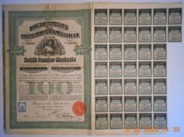 ACTION - BANCO HIPOTECARIO De CREDITO TERRITORIAL MEXICANO - MEXIQUE -MEXICO Du 01 Juin 1908 - Banque & Assurance