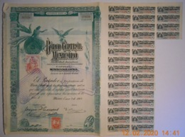ACTION - BANCO CENTRAL MEXICANO - MEXIQUE -MEXICO Du 02 Janvier 1908 - Banque & Assurance