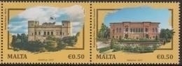 MALTA, 2019, MNH, JOINT ISSUE WITH ROMANIA, ARCHITECTURE, 2v - Emisiones Comunes