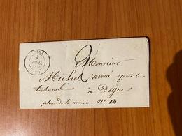 LETTRE DU 3/12/1849 - DE RIEZ  à DIGNE ( Port Offert ) - Postmark Collection (Covers)