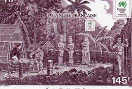 """Polynésie Française - Bloc Feuillet """" Moraï Ou Cimetière à Noukhaiva """" Neuf - Blocks & Kleinbögen"""