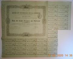 ACTION - BON Des MINES Et FONDERIES De La CORREZE - 19 - Du 25 Novembre 1877 - Mines
