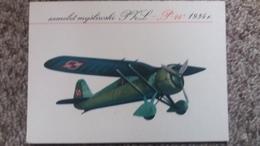 CPSM AVION SAMOLOT MYSLIWSKI PHL P 24 1934  ANDRZEJ HEIDRICH BIURO WYDAWNICZE RUCH - 1919-1938: Entre Guerres