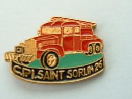PIN'S SAPEURS POMPIERS SAINT SORLIN - 26 - Brandweerman