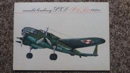 CPSM AVION SAMOLOT SAMOLOT BOMBOWY PHL P 37 LOS 1938  ANDRZEJ HEIDRICH BIURO WYDAWNICZE RUCH - 1919-1938: Entre Guerres