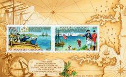 """Nouvelle Calédonie - Bloc Feuillet """" Commémoration Bicentenaire Rencontre Botany Bay La Perouse ..."""" Neuf - Blocks & Kleinbögen"""