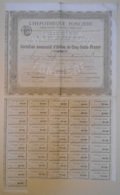 ACTION - Certificat D'ACTION De L'HYPOTHEQUE FONCIERE - Du 06 Juin 1879 - Banque & Assurance