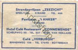 Hoek Van Holland - Hotel-Café-Rest. -Zonnewende - [Kz01-0.714 - Zucchero (bustine)
