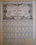 ACTION - OBLIGATION Du CREDIT COMMUNAL De FRANCE - Février 1870 - Banque & Assurance