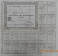 ACTION De La S.A. Des VIDANGES INODORES à VAPEUR De PARIS Du 06 Juillet 1880 - Industrie