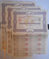 ACTION - COMPTOIRS FRANCAIS De L'OCEANIE - Lot De 3 Actions Du 10 Novembre 1920 - Navigation