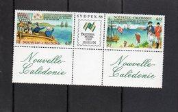 """Nouvelle Calédonie - Tryptique """" Commémoration Bicentenaire Rencontre Botany Bay La Perouse ..."""" Neuf - Ungebraucht"""
