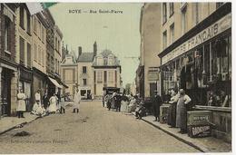 ROYE - Rue Saint Pierre (Comptoirs Français - Publicité Moto Naphta Et Radioléine) - Roye