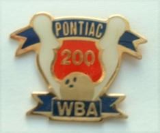AA383 Pin's Bowling USA WBA PONTIAC Achat Immédiat - Bowling