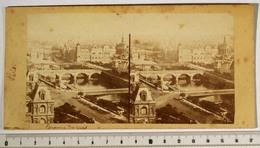 PHOTO STÉRÉO - PARIS 1er - Panorama Des Quais, Chantier Du Pont Au Change, 1858-60, XIXe Siècle - Fotos Estereoscópicas
