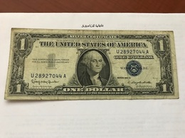 United States $1.00  Banknote 1957 B  #14 - Certificats D'Argent (1928-1957)