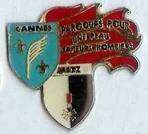 @@ Metz - Cannes Blason écusson Sapeurs Pompiers @@pom02 - Brandweerman