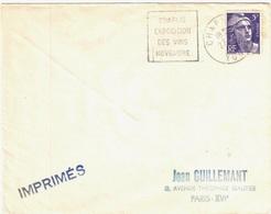 CHABLIS Yonne Imprimé 5 F Gandon Yv 883 Ob Meca CHA006 Daguin Flamme Chablis Exposition Des Vins Novembre - Marcophilie (Lettres)