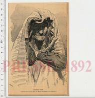 Presse 1892 Sorcière Corse Costume CHV21 - Old Paper