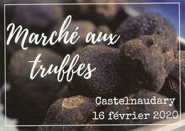 CP Pub. Cuisine 2020 - Marché Aux Truffes De Castelnaudary- Aude - Recettes (cuisine)