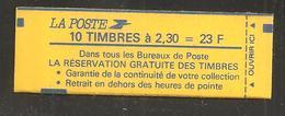 France, 2614-C3, Carnet Neuf, Non Ouvert, TTB, Conf. 9, Réservation Gratuite, Carnet Marianne De Briat - Usage Courant