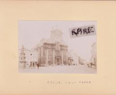 LOT DE 2 PHOTOS ANCIENNES,1880,BELGIQUE,BELGICA,ANVERS,MALINES,RARE,SUR LE MEME CARTON,RECTO VERSO - Lieux
