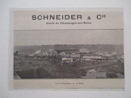 Montereau-Fault-Yonne   (77)   Vue Générale   - Coupure De Presse De 1923 - Historical Documents
