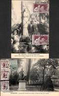 45 - Orleans - Lot 2 Cartes (timbres Expo 1925 - Orphelins De La Guerre) - Orleans