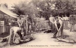 CPA Guerre 14 Européenne Grande Souvenir Troupes Anglaises Coin Corvée - War 1914-18