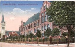 ALLENSTEIN Olsztyn Städtische Oberrealschule Color Feldpost Formationsstempel Reservelazarett 12.6.1916 Gelaufen - Ostpreussen