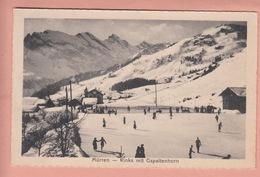 OUDE POSTKAART - ZWITSERLAND - SCHWEIZ -     WINTERSPORT - SKATING RINKS - MURREN  1913 - BE Berne