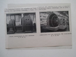 CHAMPAGNE SUR SEINE   (77)  Usine SCHNEIDER Groupe Convertisseur Commutateur De 3000 KW   - Coupure De Presse De 1923 - Componenti