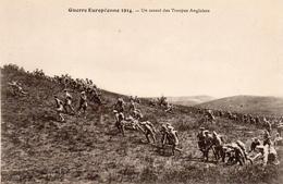 CP Guerre 14 Européenne Grande Souvenir Un Assaut Des Troupes Anglaises - War 1914-18