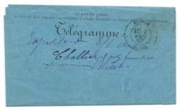 TELEGRAMME/  BLIDAH ALGERIE POUR NIMES / 1887 - Telegraph And Telephone